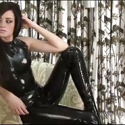 Kinky latex babe Chloes tight rubber outfit and nylon lovers