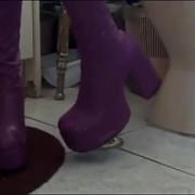 Purple go-go boots