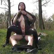 Hot german amateur in Latex outdoor