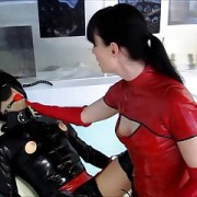 what a dream -  rubber sissy training Cheyenne de Muriel