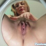 Demeaning femdom teases toilet slave