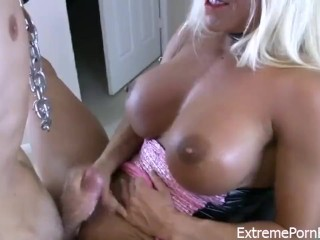 Blonde Mistress Railed By Slave