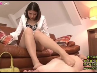 Sexy and horny foot sex wife OL 3
