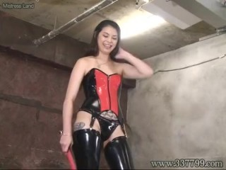 Japanese Mistress Alice slapped the face