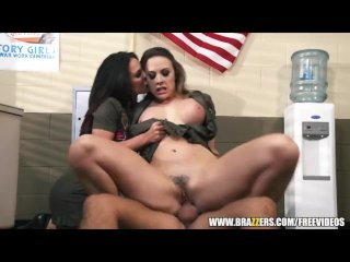 Pair of dominant drill sergeants fuck solider - brazzers