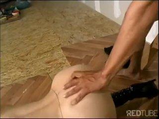 Fetish femdom anal masturbation cum shot
